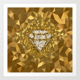 POLYNOID Diamond / Gold Edition Art Print