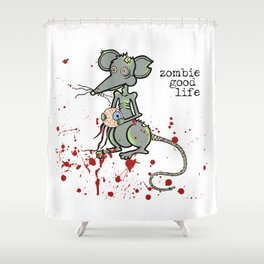 Zombie Mouse Shower Curtain