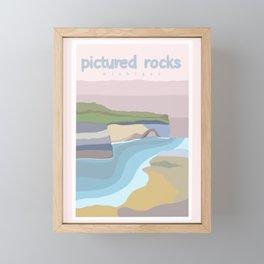 Pictured Rocks Michigan  Framed Mini Art Print