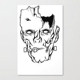 Zombie Frankenstein Halloween  Designer Canvas Print