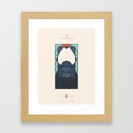 LE VOILE & LA BARBE - Juifs orthodoxes - Homme Framed Art Print