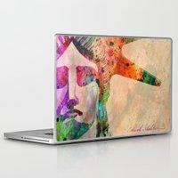 new york Laptop & iPad Skins featuring New York  New York by mark ashkenazi