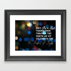 Festival lights Framed Art Print