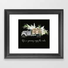 White Flower Farm Framed Art Print