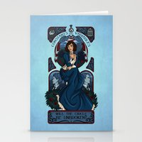 bioshock infinite Stationery Cards featuring Infinite Nouveau by Miss-Lys