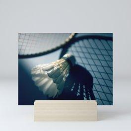 Shadows of badminton Mini Art Print