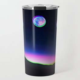 Trippy Moon Phases in the Night Sky Travel Mug
