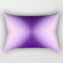 Purple Lavender Texture Ombre X Pattern Rectangular Pillow