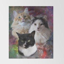 Space Fluffs Throw Blanket