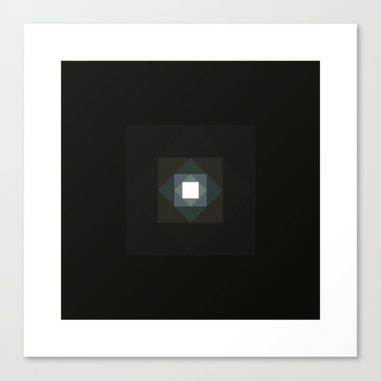 #361 Graced with light part III (square) – Geometry Daily Canvas Print