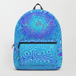Aqua, Blues and Purple Backpack