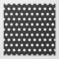 gold dots Canvas Prints featuring Dots by Nobu Design