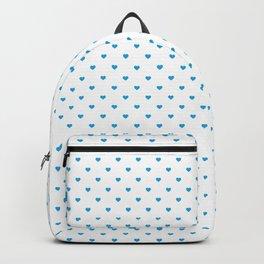 Oktoberfest Bavarian Blue Mini Love Hearts on White Backpack