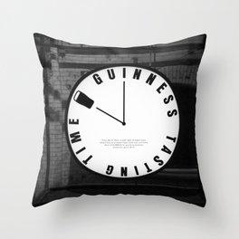Guinness Clock Throw Pillow