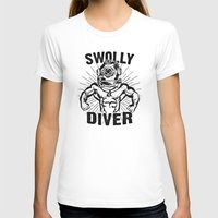diver T-shirts featuring Swolly Diver by Kris Petrat Design :  Art Love Moto