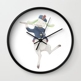 rabbit musician Wall Clock