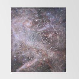 Sacred Geometry Universe Throw Blanket