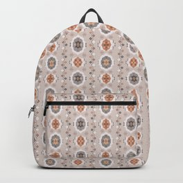 Boho Baby // Middle Eastern Metallic // Nana's Turkish Kilim Carpet in Copper & Gunmetal Gray Backpack