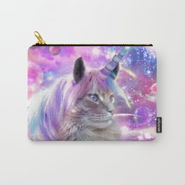 Space Rainbow Caticorn Cat Unicorn Carry-All Pouch