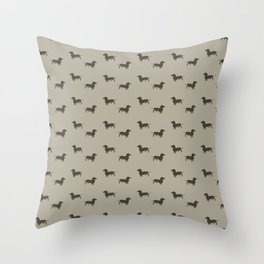 Minimalist Dachshund Pattern Throw Pillow