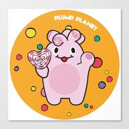 Plump Planet Candy Canvas Print