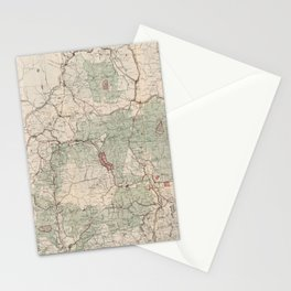 Vintage White Mountains National Forest Map (1931) Stationery Cards