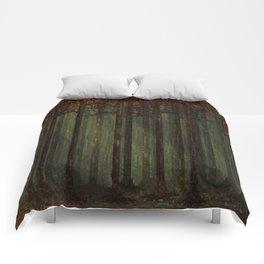 Autumn Forest - Pixel Art Comforters