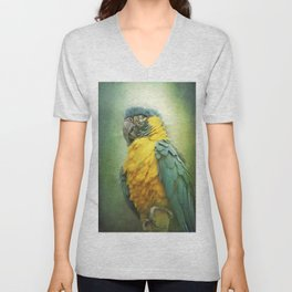 Bright parrot! Unisex V-Neck