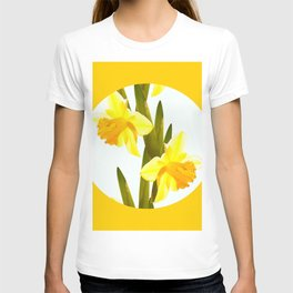 Yellow Spring Flowers with Green Leaf #decor #society6 #buyart T-shirt
