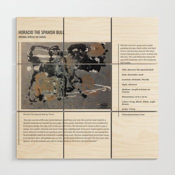 Horacio The Spanish Bull / Art Stories Wood Wall Art