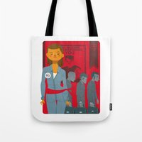 1984 Tote Bags featuring 1984 by Cristian Barbeito