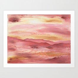 Pink Moment in Ojai II Art Print