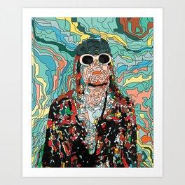 Maybe Just Happy Art Print