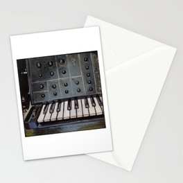 Vintage Analog Synthesizer Stationery Cards