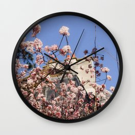 French Wildflowers Wall Clock