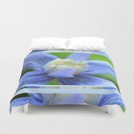 SOFT BLUE #1 - Clematis Alpina Duvet Cover