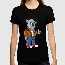 funny koala cartoon T-shirt