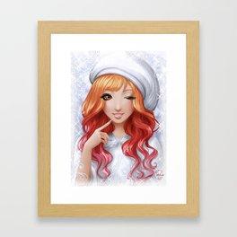 Xmas gal Framed Art Print
