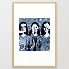 Unsaid unseen Framed Art Print