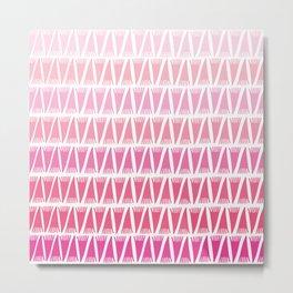 Tee Pee Pink Gradient Metal Print