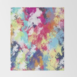 Abstract 39 Throw Blanket