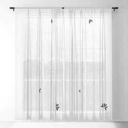 Bugs: abstract Fly Sheer Curtain