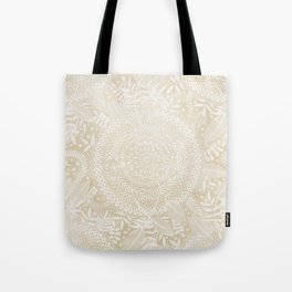Medallion Pattern in Pale Tan Tote Bag