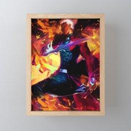 Neon Archer Emiya Framed Mini Art Print