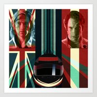 rush Art Prints featuring Rush by milanova