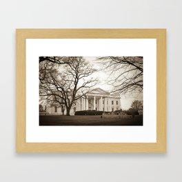 The White House :: Washington DC Framed Art Print