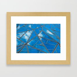 Blue sky reflections Framed Art Print