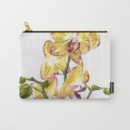 Yellow Phalaenopsis Orchid Traditional Artwork Carry-All Pouch