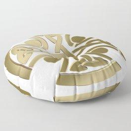 Celtic golden knot Floor Pillow