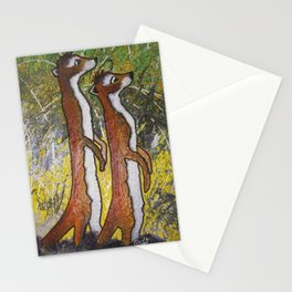 Curious Meerkats Stationery Cards